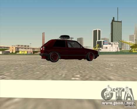 VW Golf II Shadow Crew para vista inferior GTA San Andreas