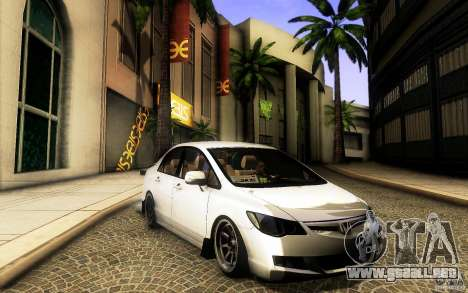 Honda Civic FD BlueKun para GTA San Andreas left