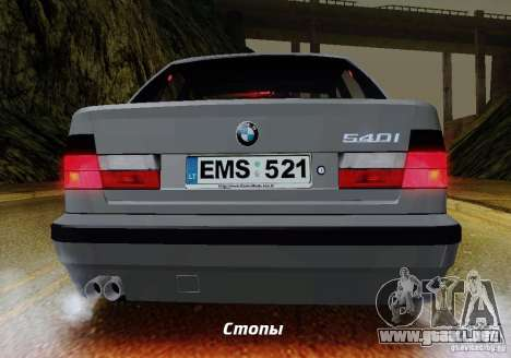 BMW E34 540i Tunable para GTA San Andreas interior