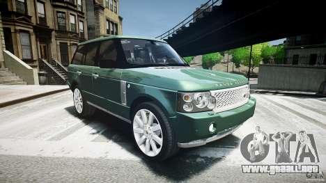 Range Rover Supercharged v1.0 para GTA 4 vista hacia atrás