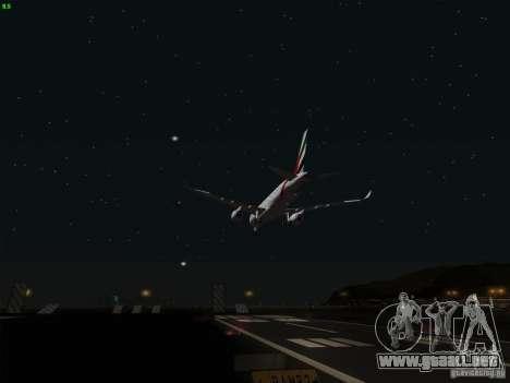 Airbus A350-900 Emirates para la vista superior GTA San Andreas
