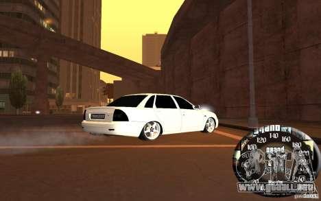 LADA priora v. 2 para GTA San Andreas vista posterior izquierda