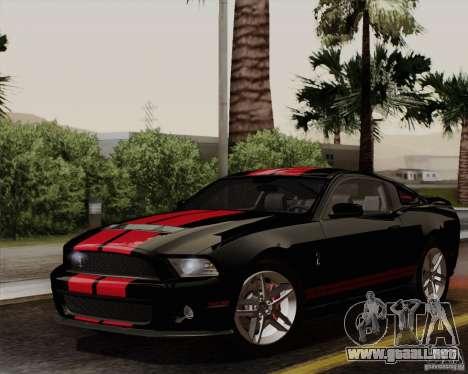Ford Shelby GT500 2011 para la visión correcta GTA San Andreas