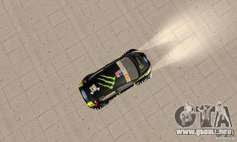 Ford Fiesta 2011 Ken Blocks para la visión correcta GTA San Andreas