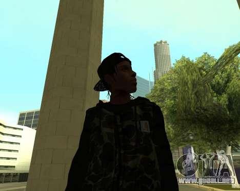 A$AP Rocky para GTA San Andreas quinta pantalla