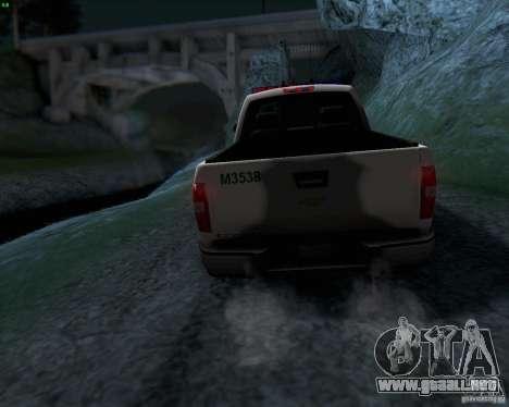 Chevrolet Silverado Police para vista lateral GTA San Andreas
