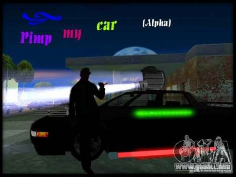 Pimp my Car Final para GTA San Andreas segunda pantalla