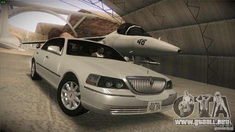 Lincoln Towncar 2010 para GTA San Andreas