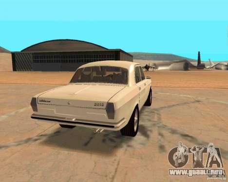 GAZ Volga 2410 caliente Road para visión interna GTA San Andreas