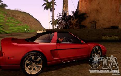 Acura NSX Targa para visión interna GTA San Andreas
