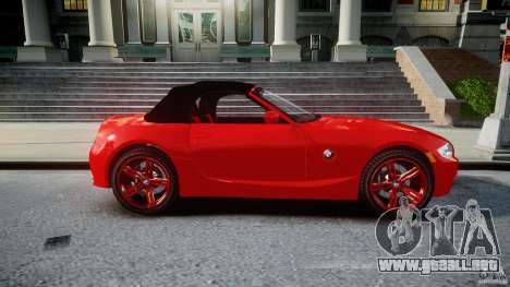 BMW Z4 Roadster 2007 i3.0 Final para GTA 4 vista lateral