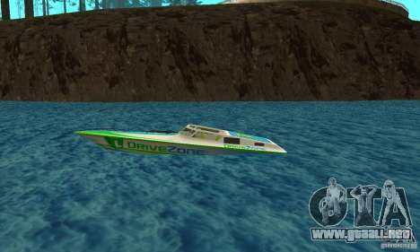 Speed Motorboat para GTA San Andreas left