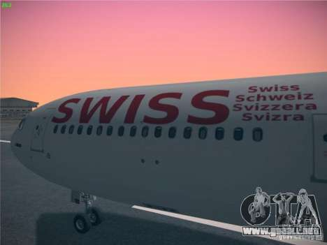 Airbus A340-300 Swiss International Airlines para la visión correcta GTA San Andreas
