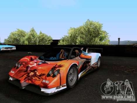 Pagani Zonda EX-R para la vista superior GTA San Andreas