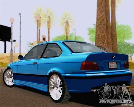 BMW M3 E36 New Wheels para la visión correcta GTA San Andreas