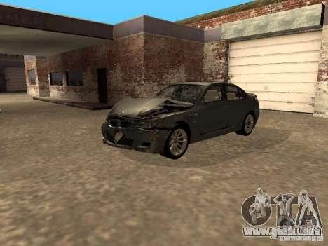 BMW M5 E60 2009 v2 para GTA San Andreas interior