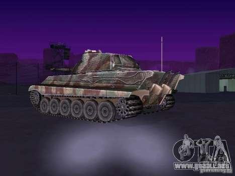 Pzkpfw VII Tiger II para GTA San Andreas vista posterior izquierda