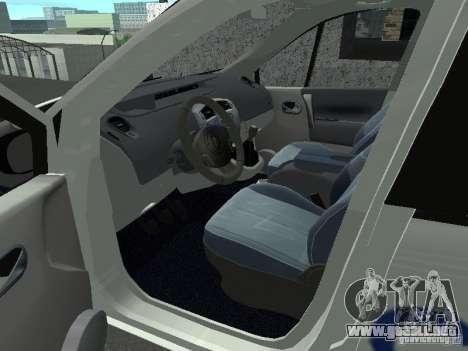 Renault Scenic II Police para GTA San Andreas vista posterior izquierda