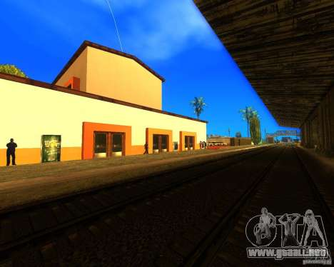 Una bulliciosa estación de tren en Los Santos para GTA San Andreas