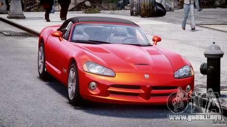 Dodge Viper SRT-10 2003 1.0 para GTA 4 visión correcta