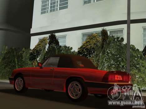 Alfa Romeo Spider 1986 para GTA Vice City vista lateral izquierdo