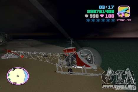 Bell 47 para GTA Vice City vista interior