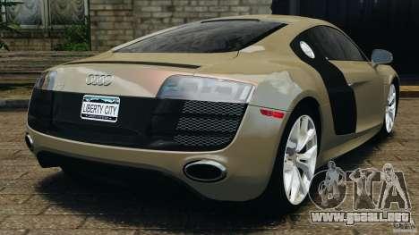 Audi R8 V10 2010 para GTA 4 Vista posterior izquierda