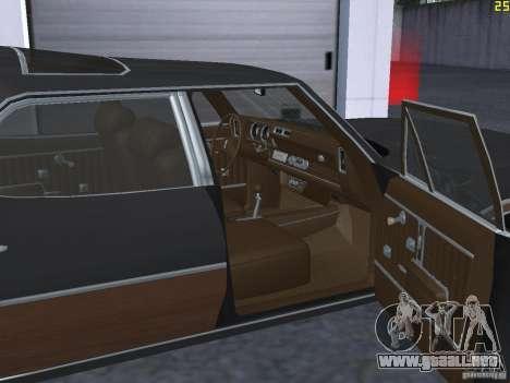 Oldsmobile Vista Cruiser 1972 para visión interna GTA San Andreas