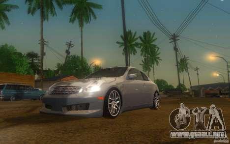 Infiniti G35 - Stock para GTA San Andreas left