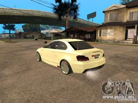 Bmw 135i coupe Police para GTA San Andreas left