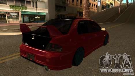 Mitsubishi Lancer Evo 8 Street Drift para la visión correcta GTA San Andreas