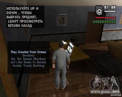 La oportunidad de jugar en un equipo portátil para GTA San Andreas segunda pantalla