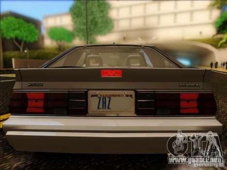 Mitsubishi Starion ESI-R 1986 para la visión correcta GTA San Andreas