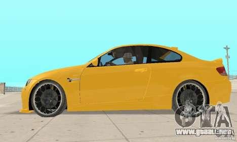 BMW M3 2008 Hamann v1.2 para GTA San Andreas vista hacia atrás