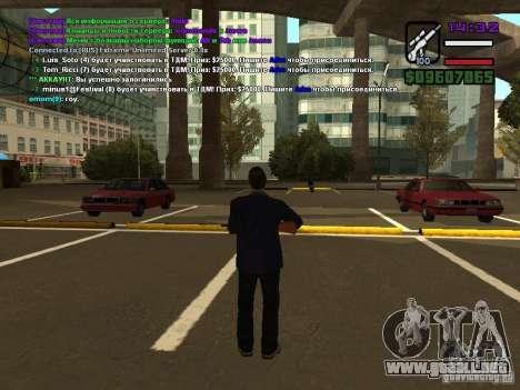 SA-MP 0.3x Client para GTA San Andreas quinta pantalla
