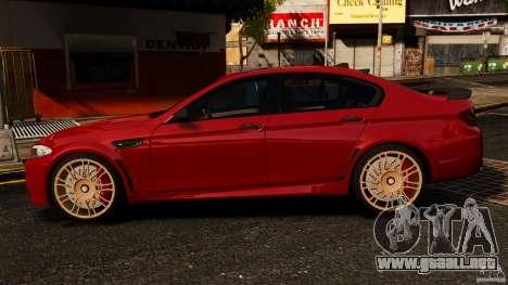 BMW M5 F10 2012 Hamann para GTA 4 left