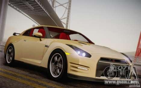 Nissan GTR Egoist para visión interna GTA San Andreas
