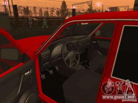 GAZ 3110 Volga para GTA San Andreas vista hacia atrás