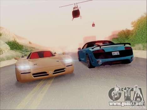 Nissan R390 Road Car v1.0 para la visión correcta GTA San Andreas
