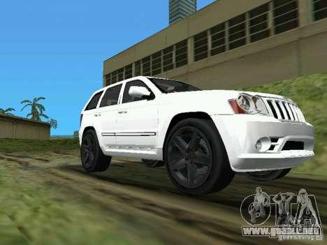 Jeep Grand Cherokee SRT8 TT Black Revel para GTA Vice City vista lateral izquierdo