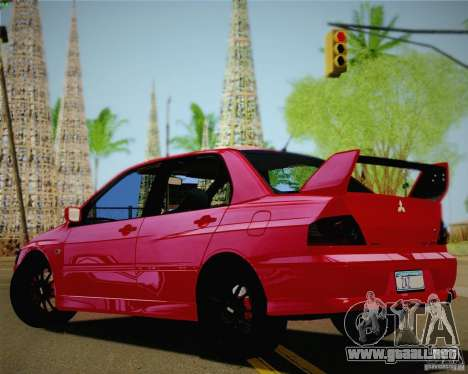 Mitsubishi Lancer EVO VIII MR 2004 para GTA San Andreas left