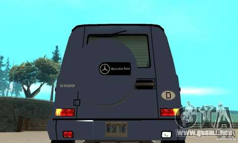 Mercedes-Benz G500 1999 Short [with kangoo v3] para GTA San Andreas vista hacia atrás