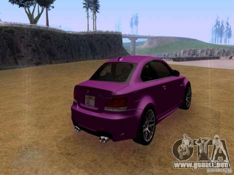 BMW 1M  2011 para GTA San Andreas left