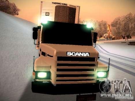 Scania T112 para GTA San Andreas vista hacia atrás