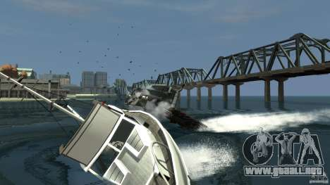 Biff boat para GTA 4 Vista posterior izquierda