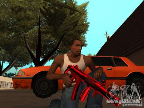 Red Chrome Weapon Pack para GTA San Andreas séptima pantalla