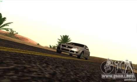 Volkswagen Passat para GTA San Andreas vista hacia atrás