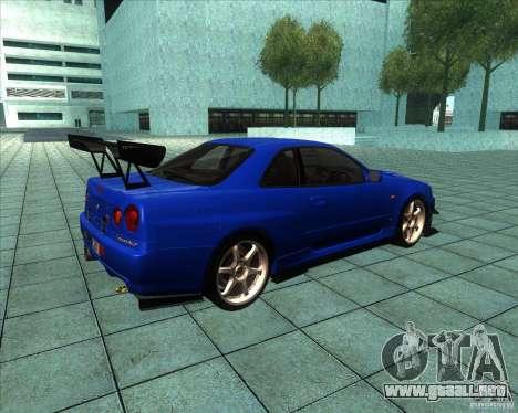 Nissan Skyline R-34 GT-R M-spec Nur para la visión correcta GTA San Andreas