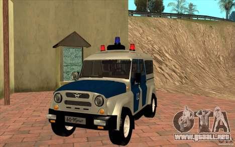 Policía Bobik UAZ-3159 v. 2 para GTA San Andreas