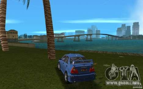 Mitsubishi Lancer Evo VI para GTA Vice City vista lateral izquierdo